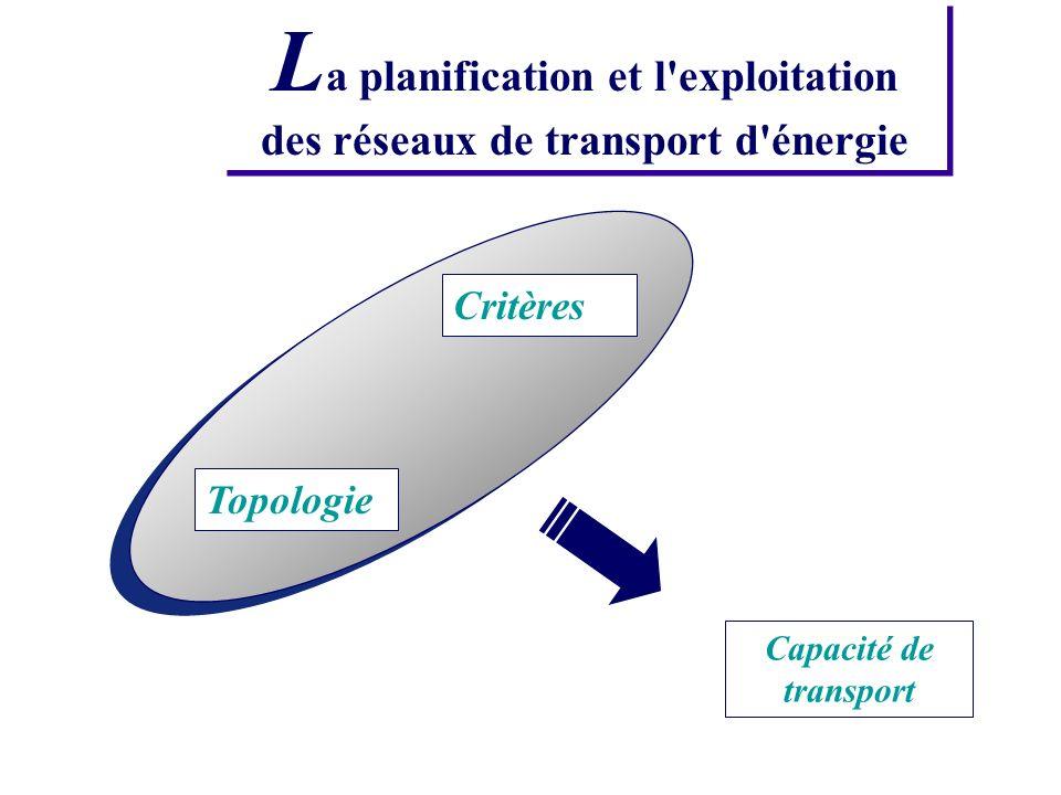 La planification et l exploitation des réseaux de transport d énergie