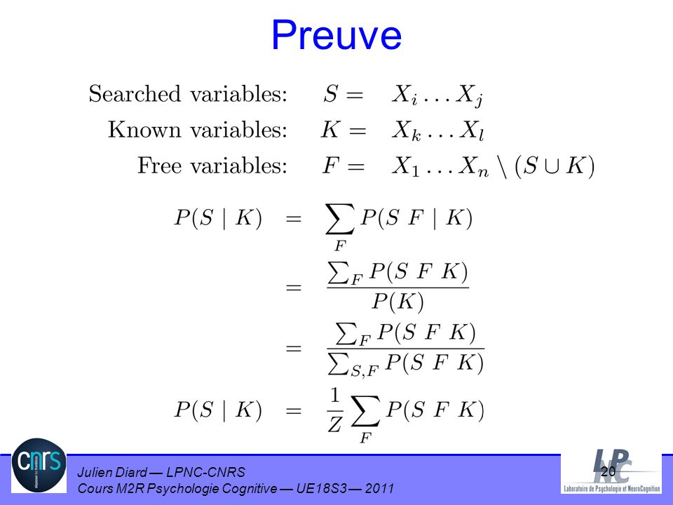 Preuve ANOTHER ADVANTAGE IS THAT IT HAS NOTHING TO DO WITH GRAPHS, INFERENCE MAY BE SEEN AS PURE ALGEBRA.
