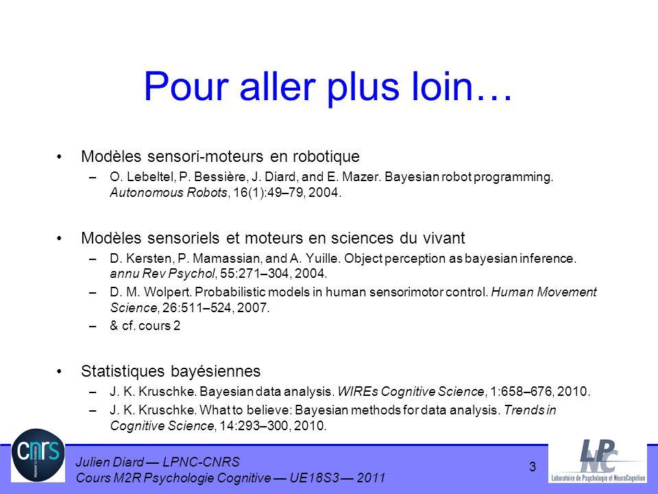 Pour aller plus loin… Modèles sensori-moteurs en robotique