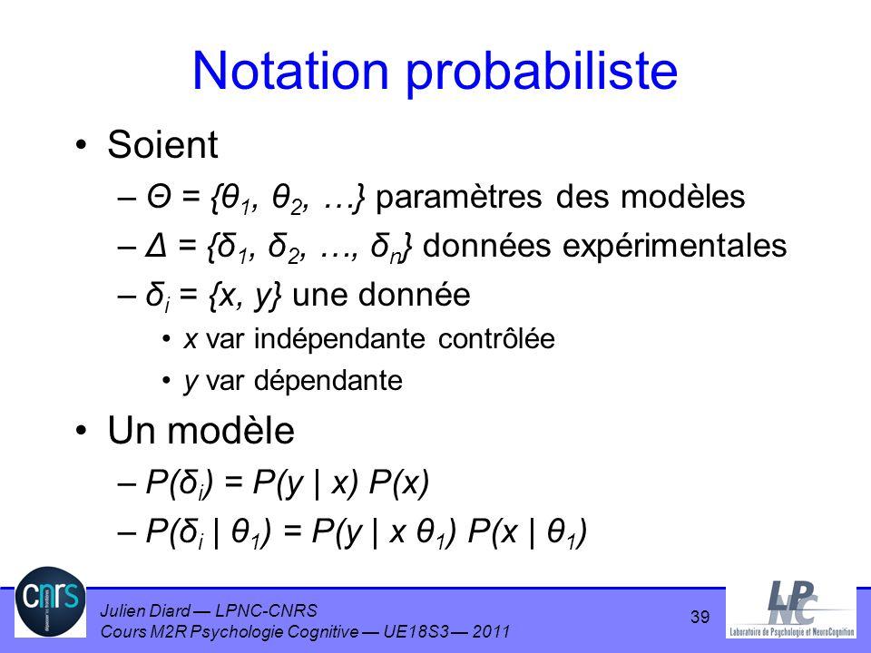 Notation probabiliste