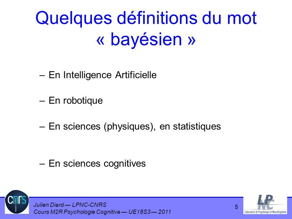 Quelques définitions du mot « bayésien »