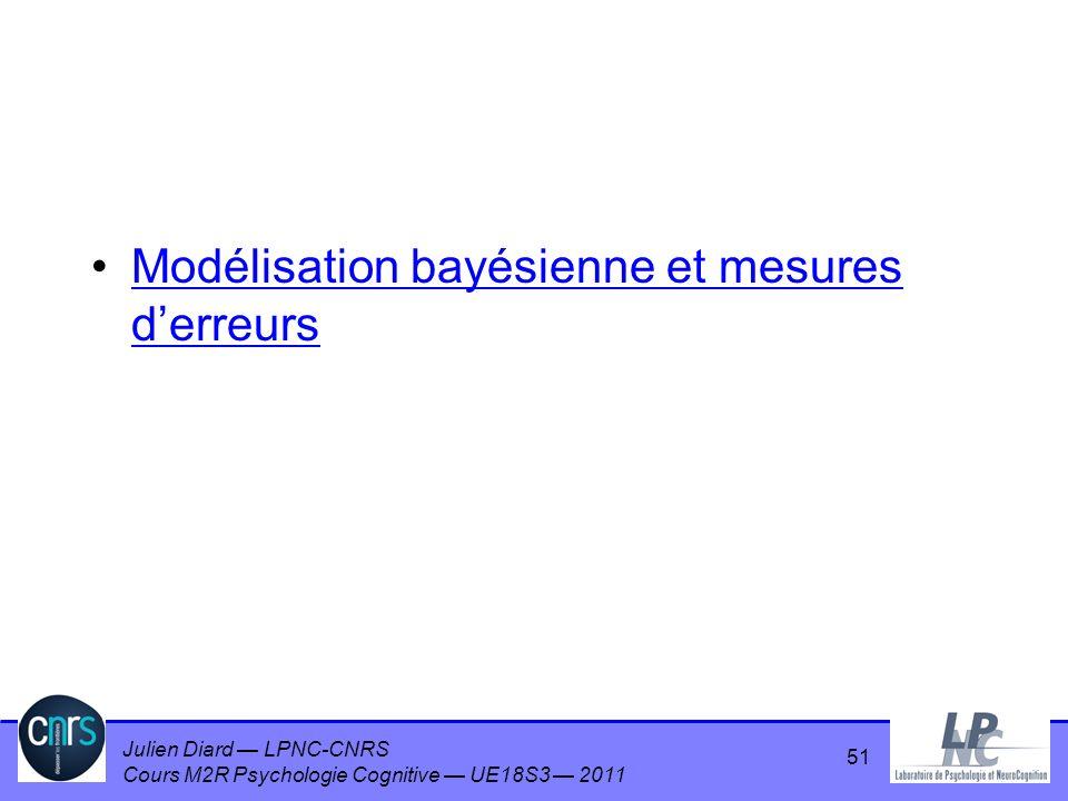 Modélisation bayésienne et mesures d'erreurs