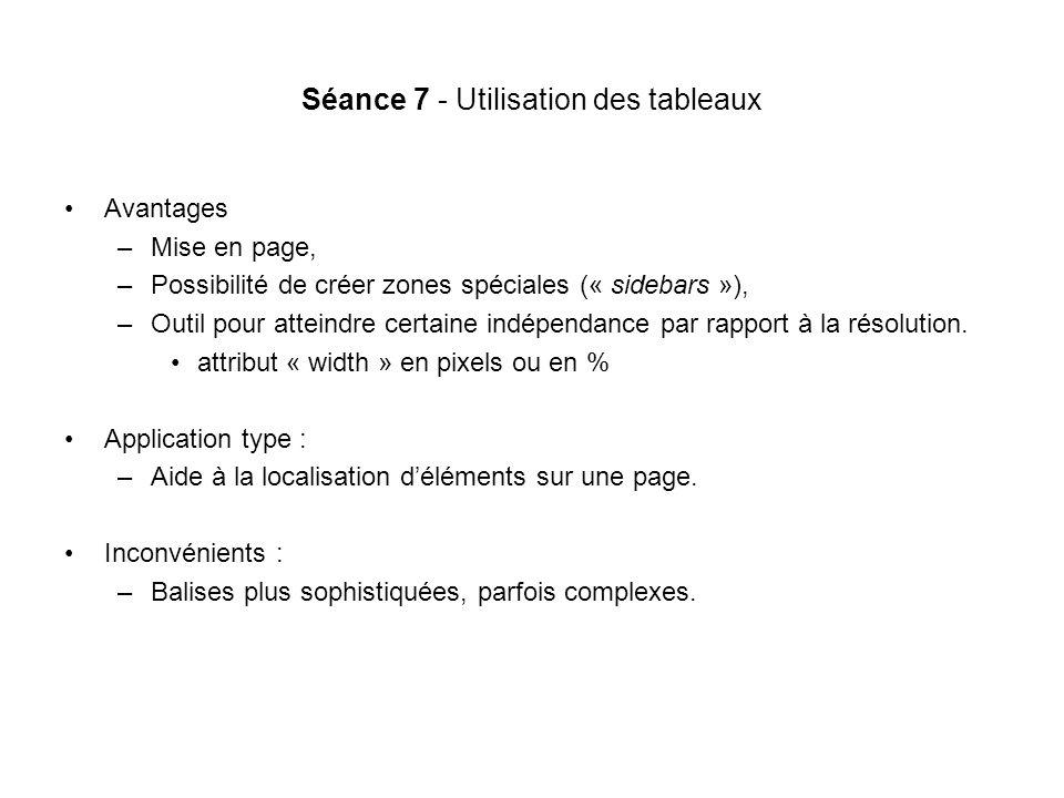 Séance 7 - Utilisation des tableaux