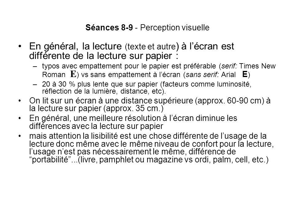 Séances 8-9 - Perception visuelle