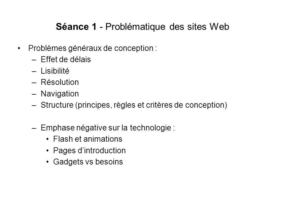 Séance 1 - Problématique des sites Web
