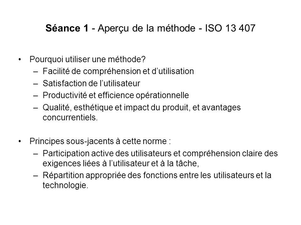 Séance 1 - Aperçu de la méthode - ISO 13 407