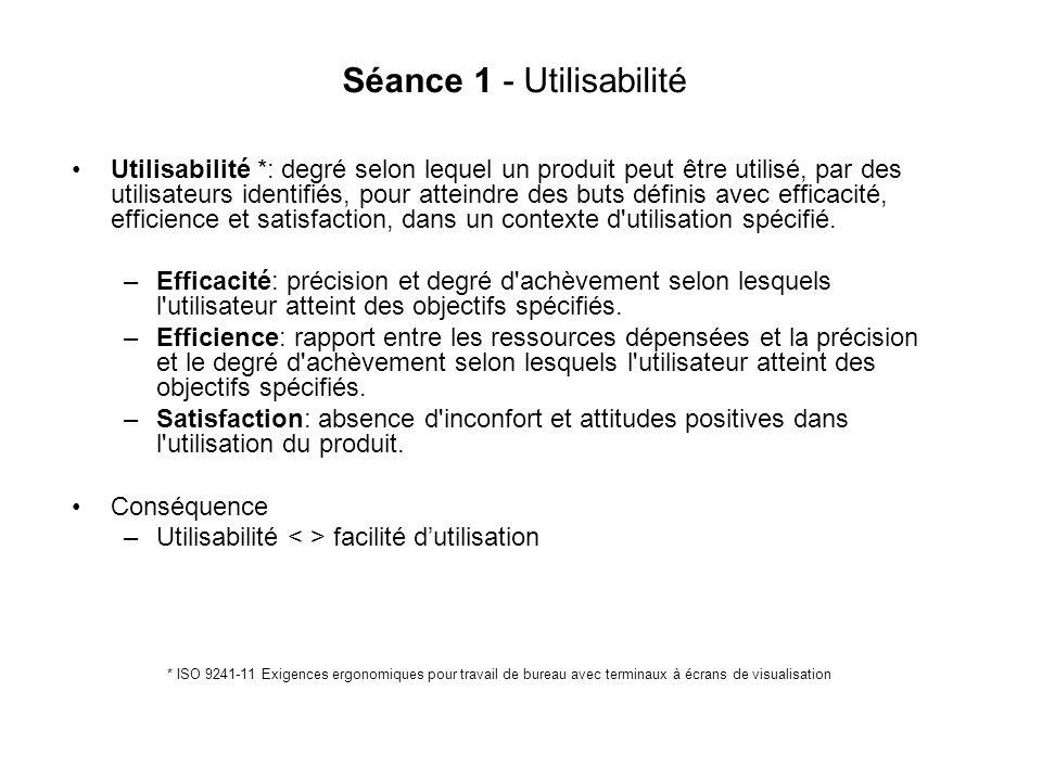 Séance 1 - Utilisabilité