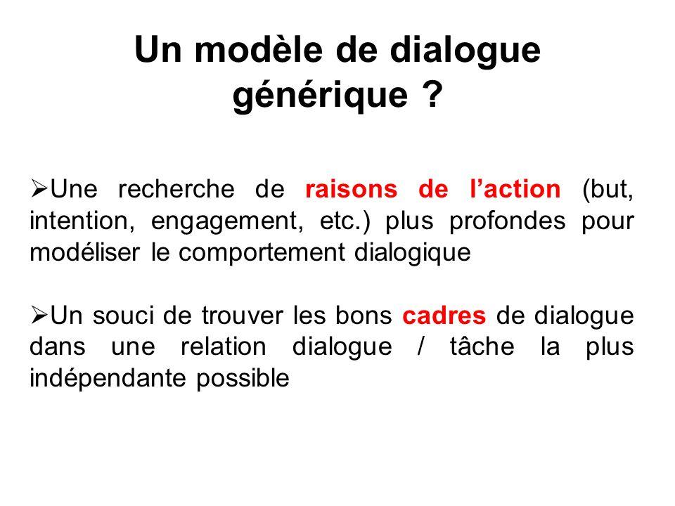 Un modèle de dialogue générique