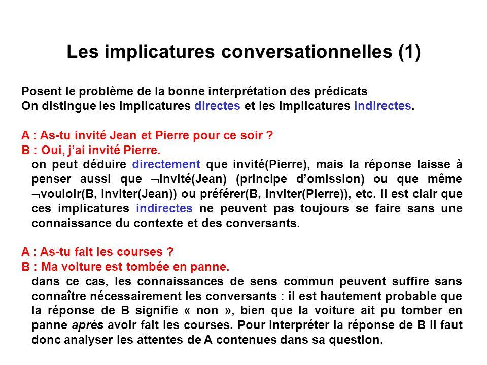 Les implicatures conversationnelles (1)
