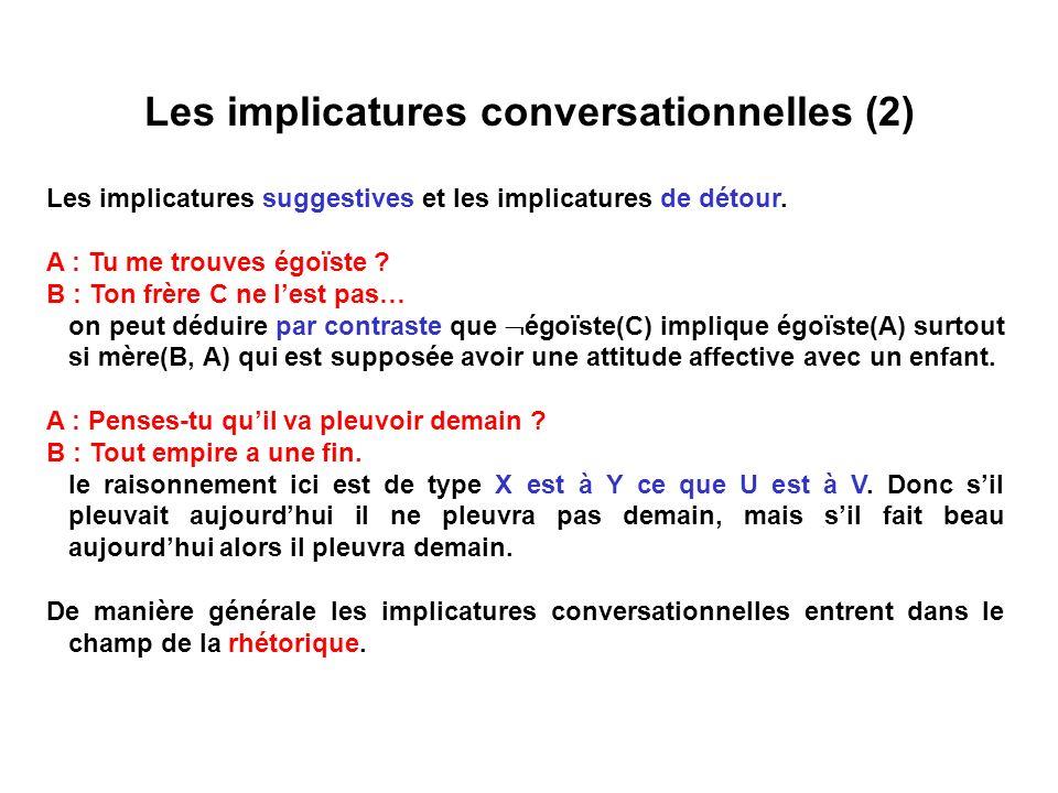 Les implicatures conversationnelles (2)