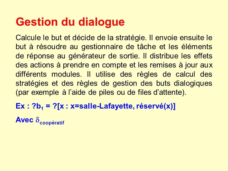 Gestion du dialogue