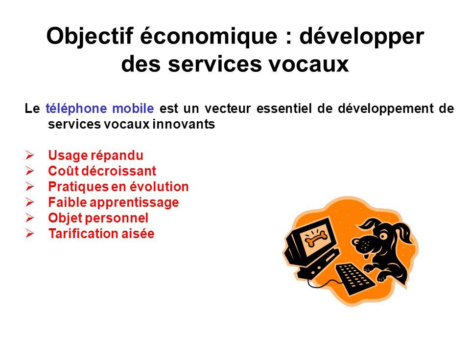 Objectif économique : développer des services vocaux