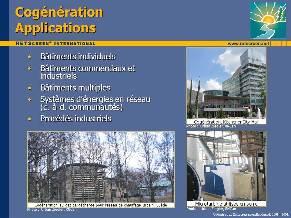 Cogénération Applications