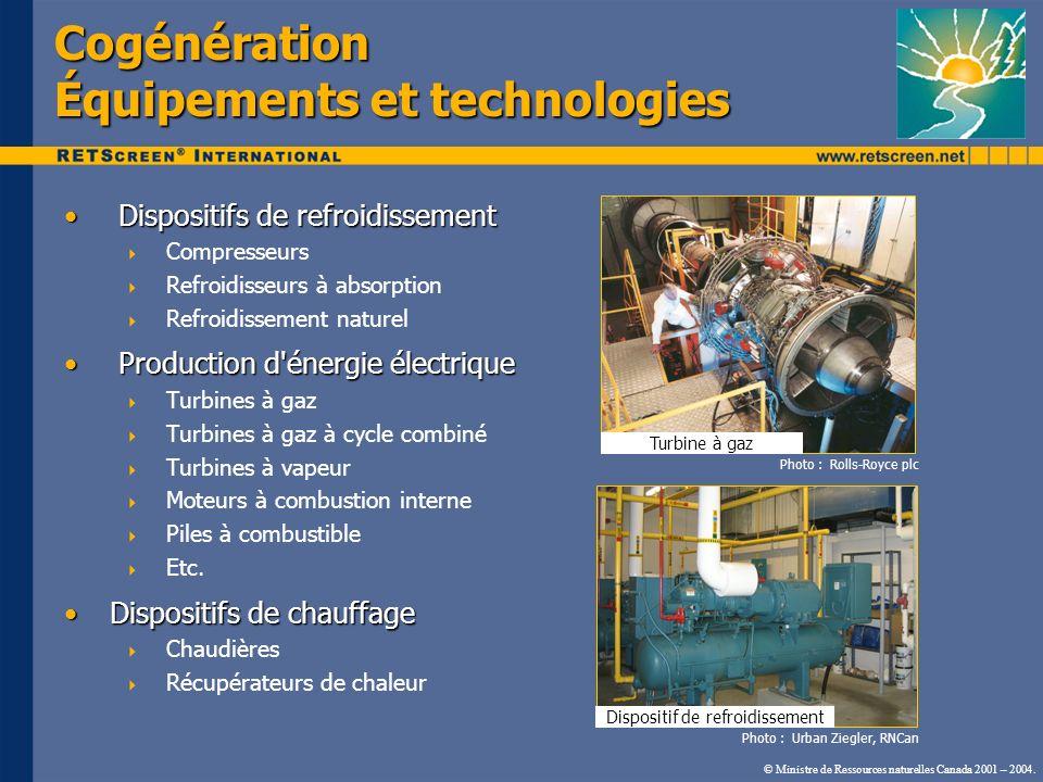Cogénération Équipements et technologies