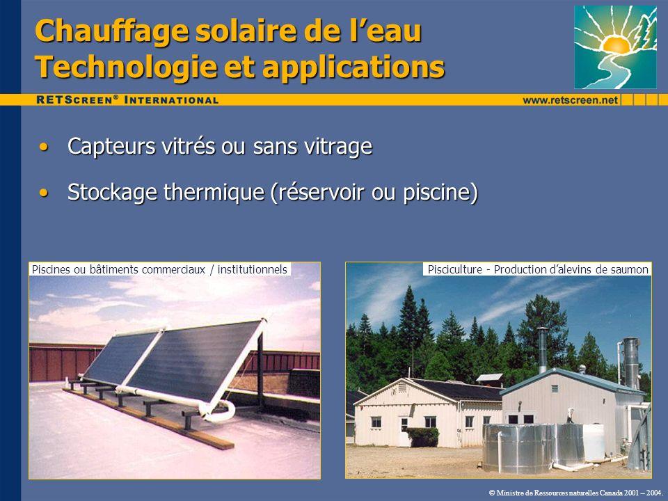 Chauffage solaire de l'eau Technologie et applications