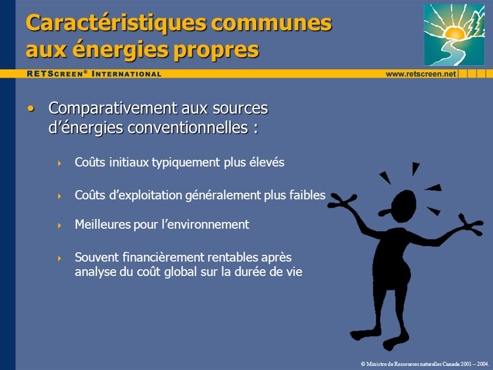 Caractéristiques communes aux énergies propres