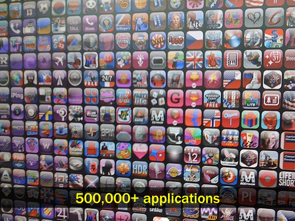 500,000+ applications