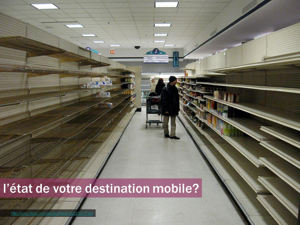l'état de votre destination mobile
