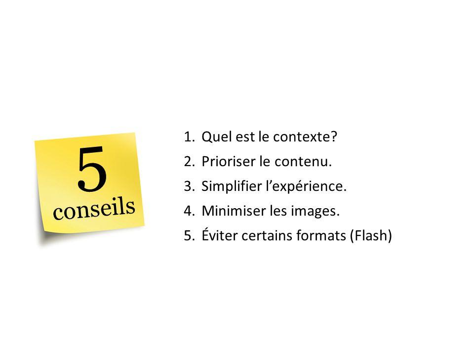 5 conseils Quel est le contexte Prioriser le contenu.
