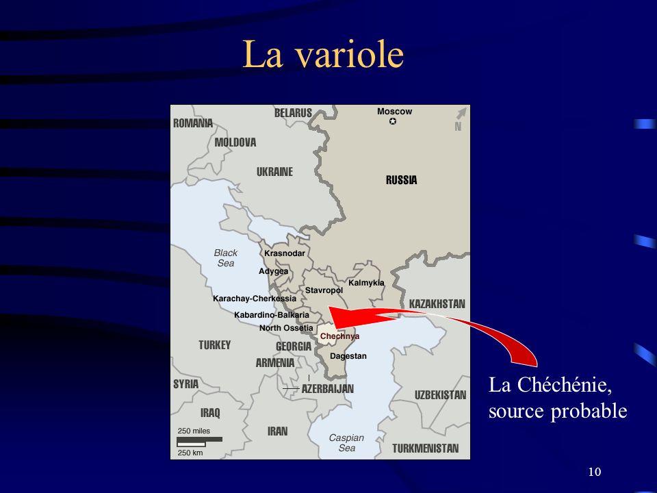 La variole La Chéchénie, source probable