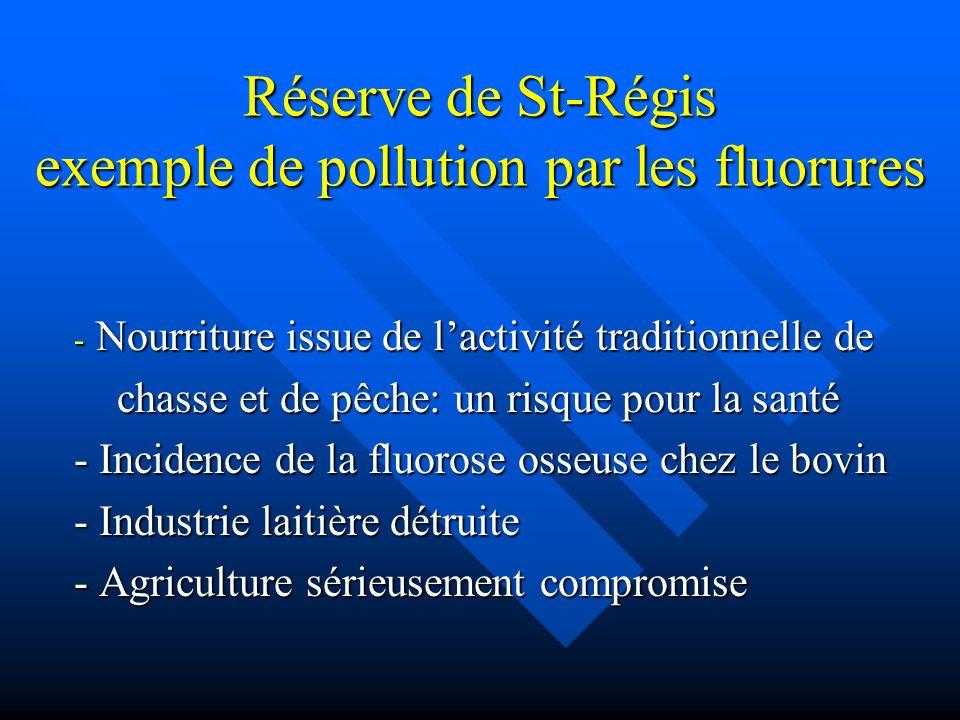 Réserve de St-Régis exemple de pollution par les fluorures