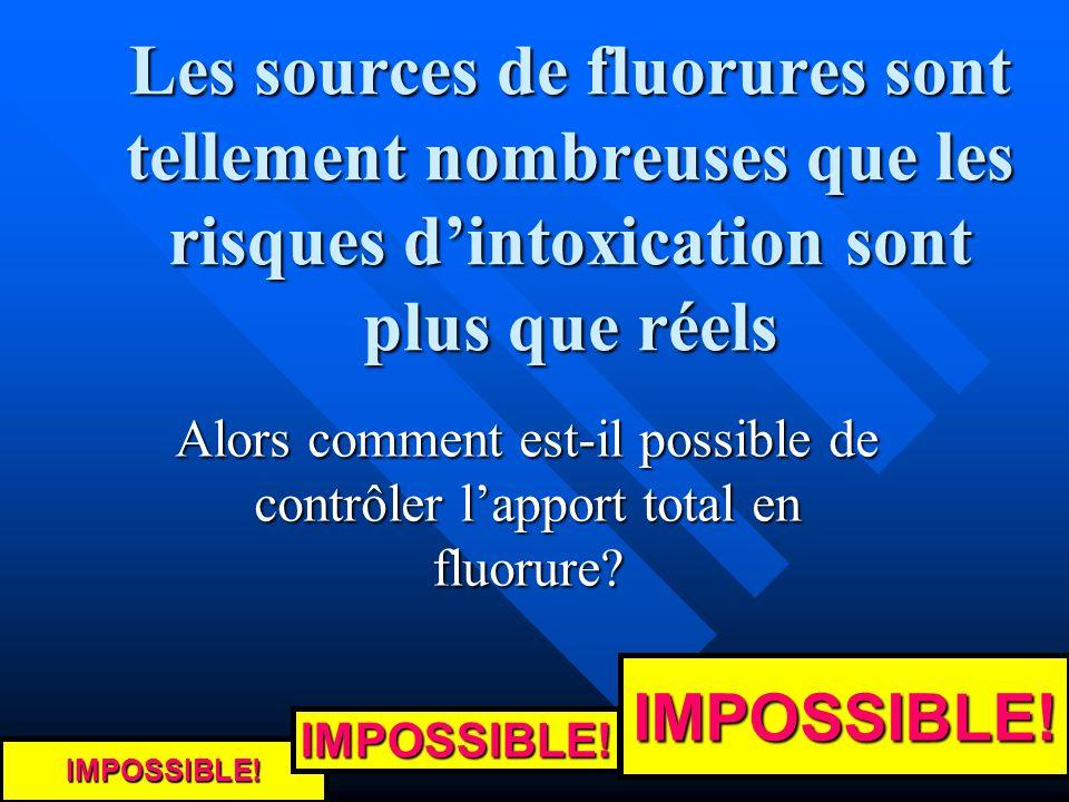 Alors comment est-il possible de contrôler l'apport total en fluorure
