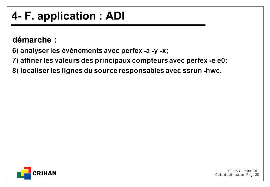 4- F. application : ADI démarche :