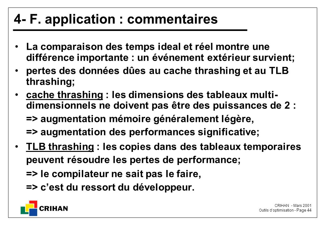 4- F. application : commentaires