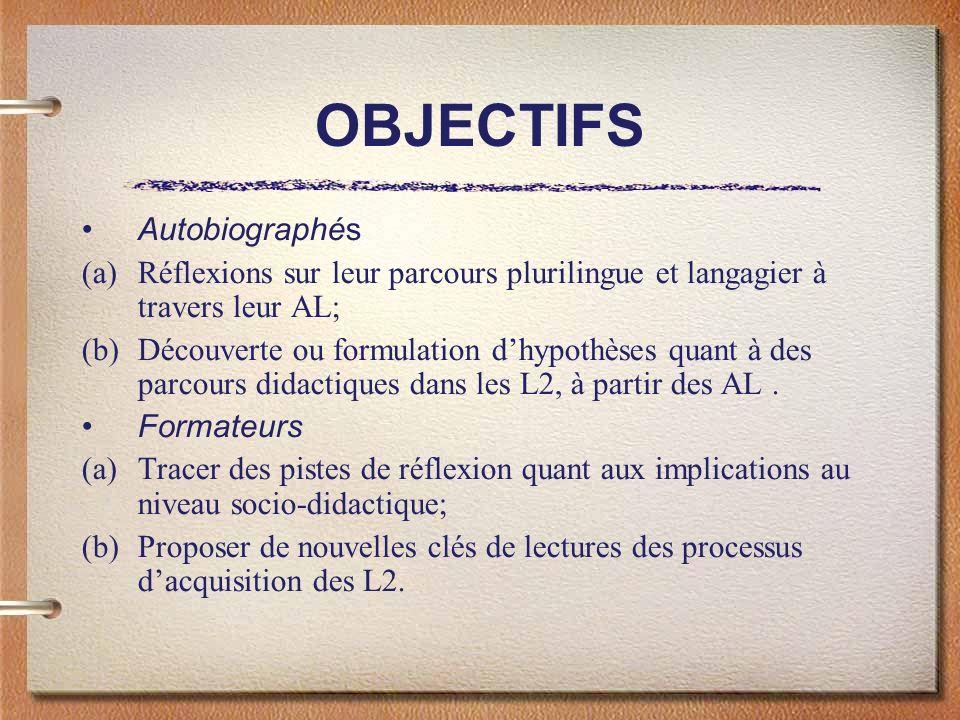 OBJECTIFS Autobiographés