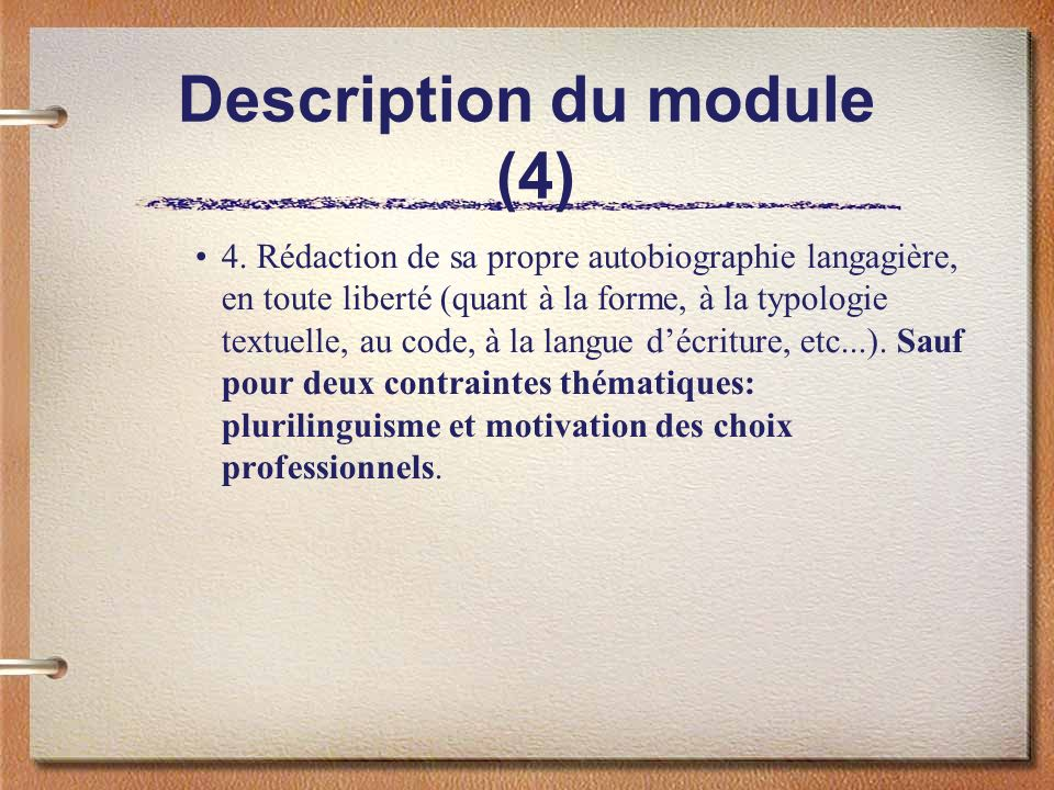 Description du module (4)