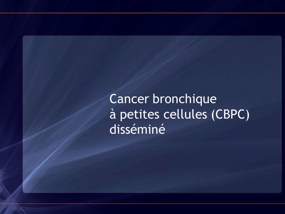 Cancer bronchique à petites cellules (CBPC) disséminé