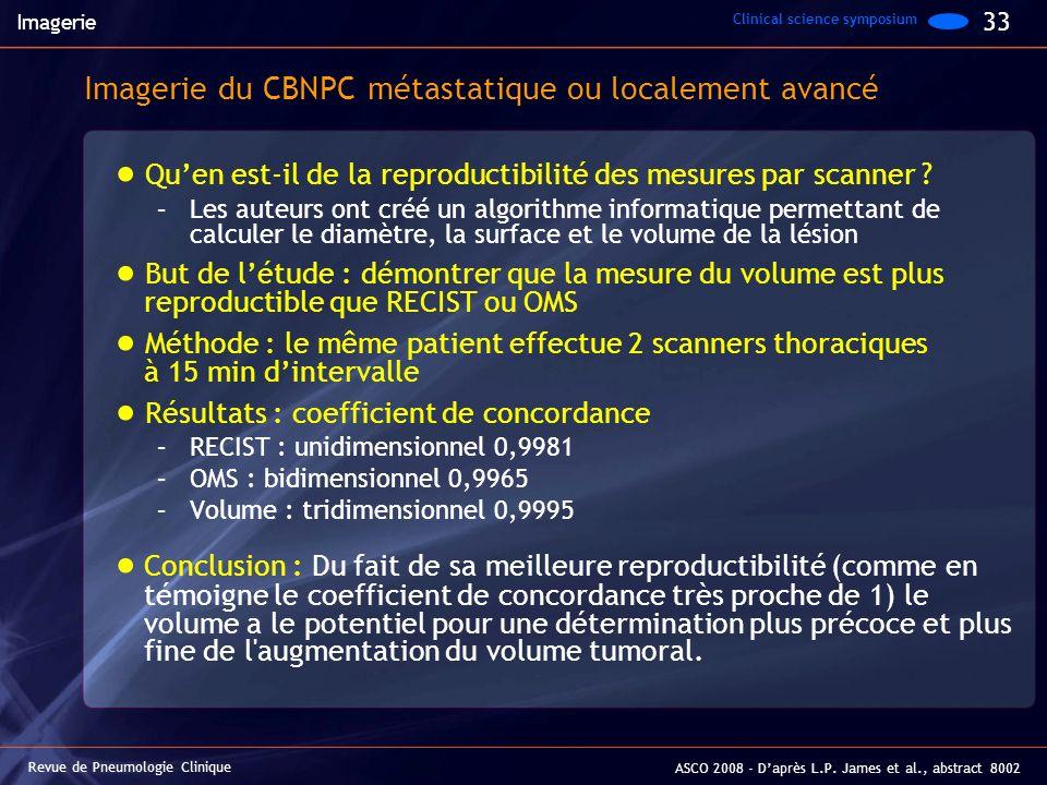 Imagerie du CBNPC métastatique ou localement avancé
