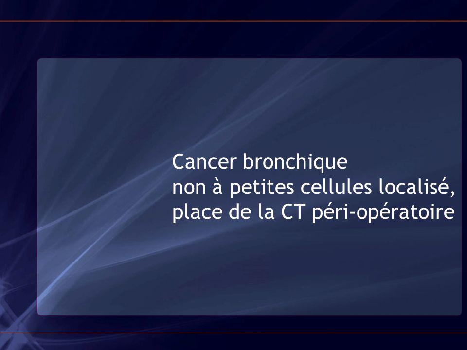 Cancer bronchique non à petites cellules localisé, place de la CT péri-opératoire