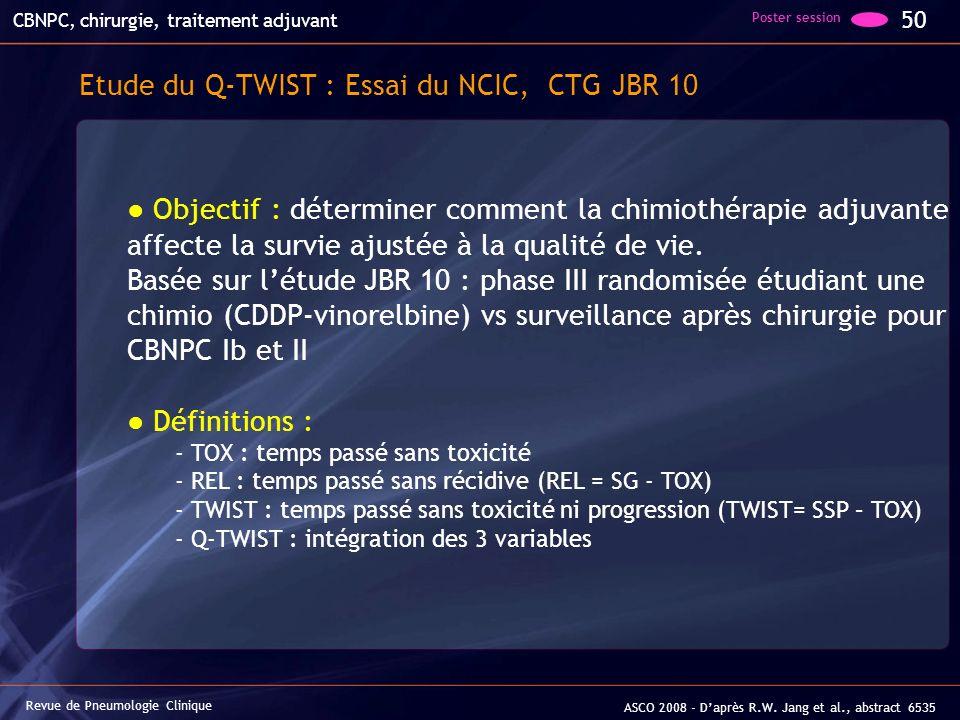 Etude du Q-TWIST : Essai du NCIC, CTG JBR 10