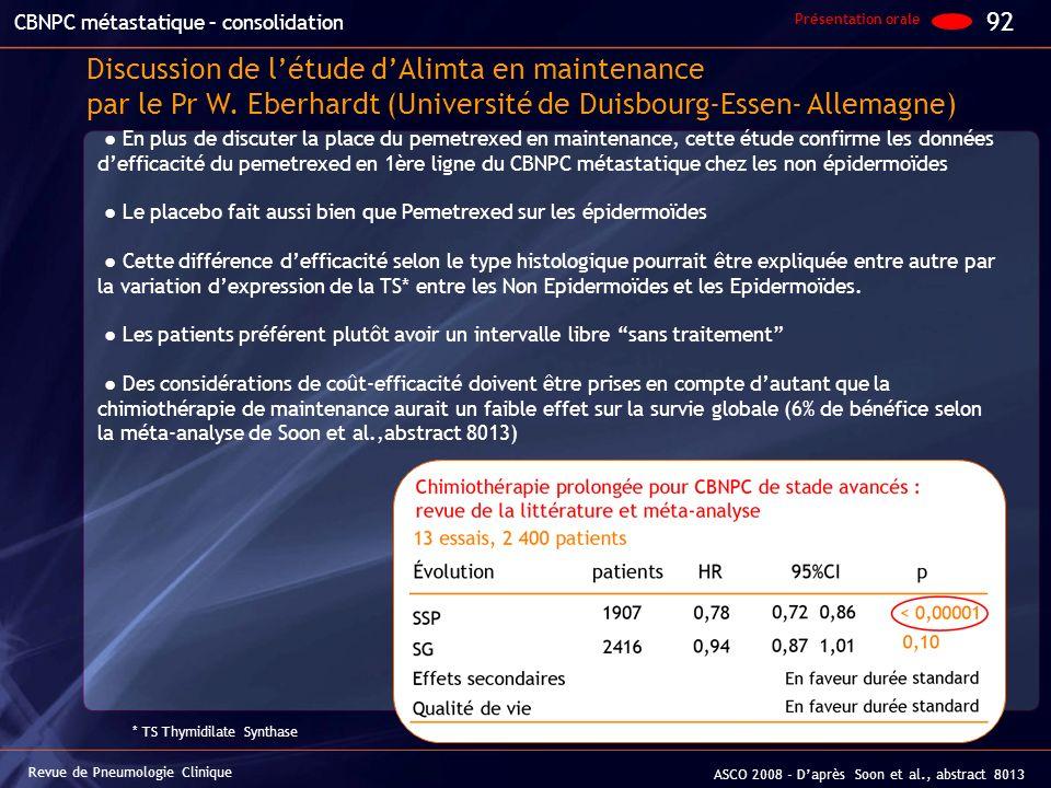 CBNPC métastatique – consolidation
