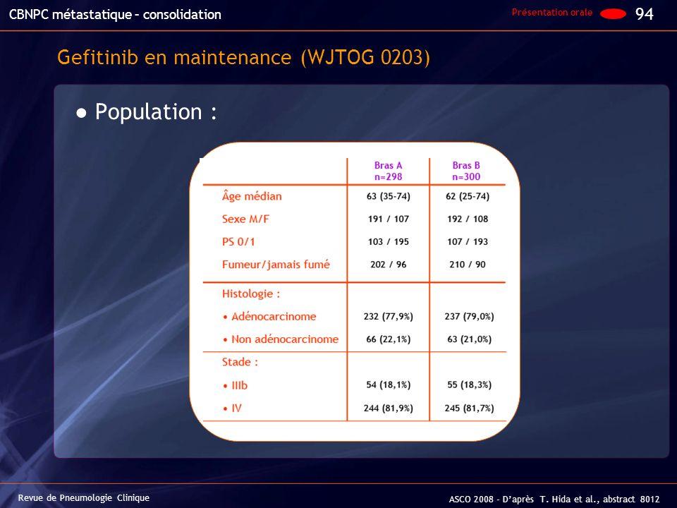Gefitinib en maintenance (WJTOG 0203)