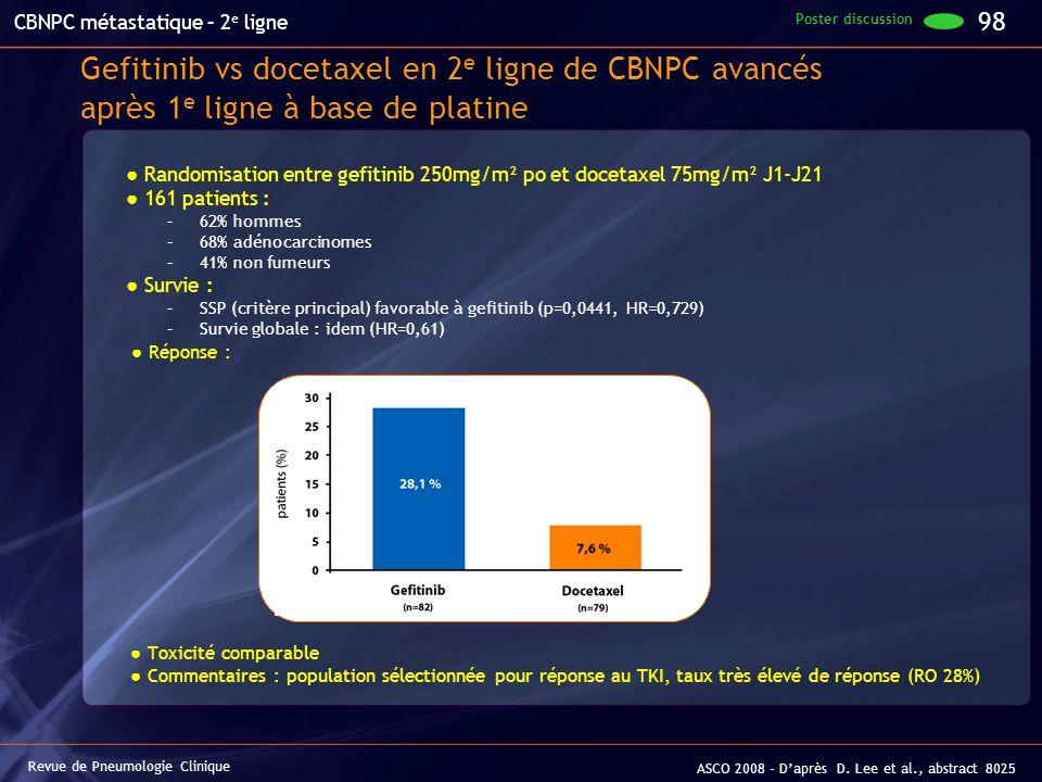 CBNPC métastatique – 2e ligne