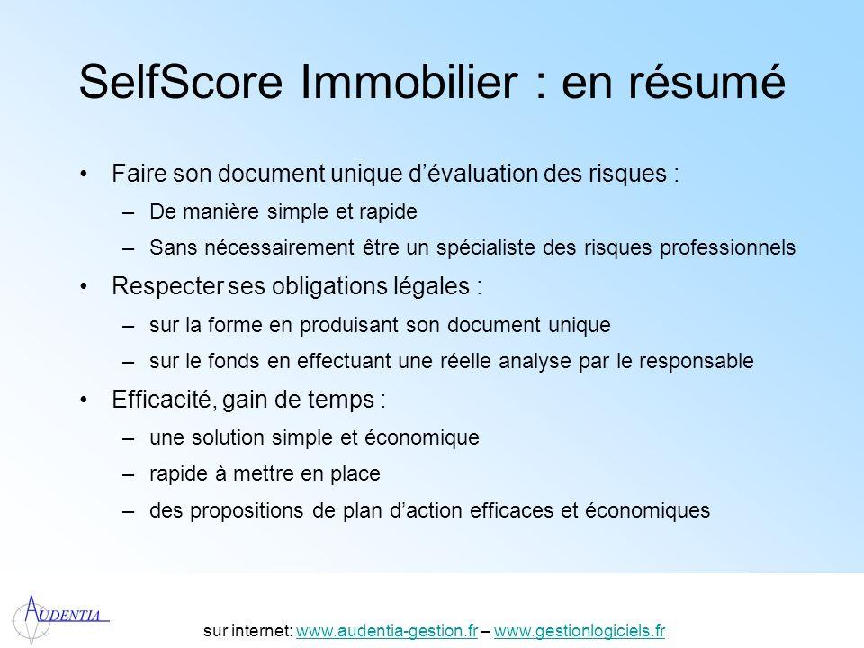 SelfScore Immobilier : en résumé