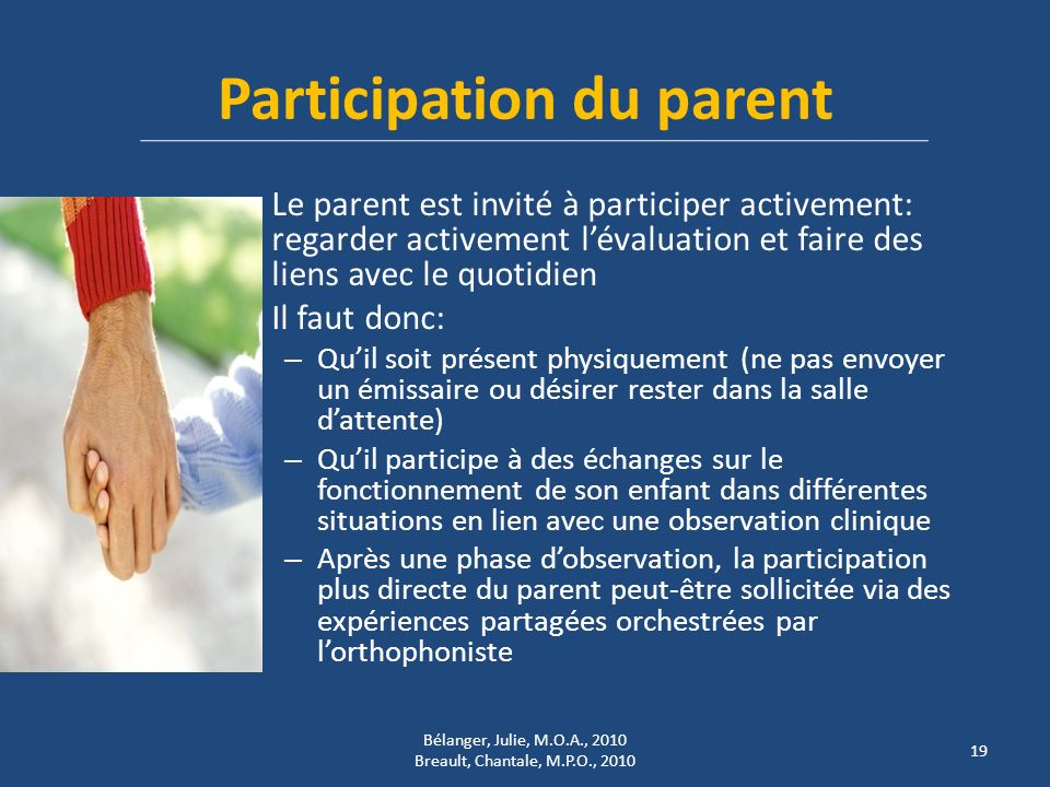 Participation du parent