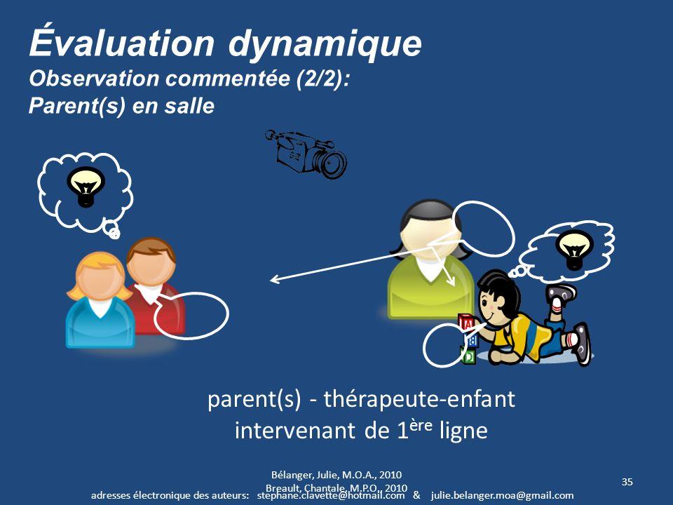 Évaluation dynamique parent(s) - thérapeute-enfant