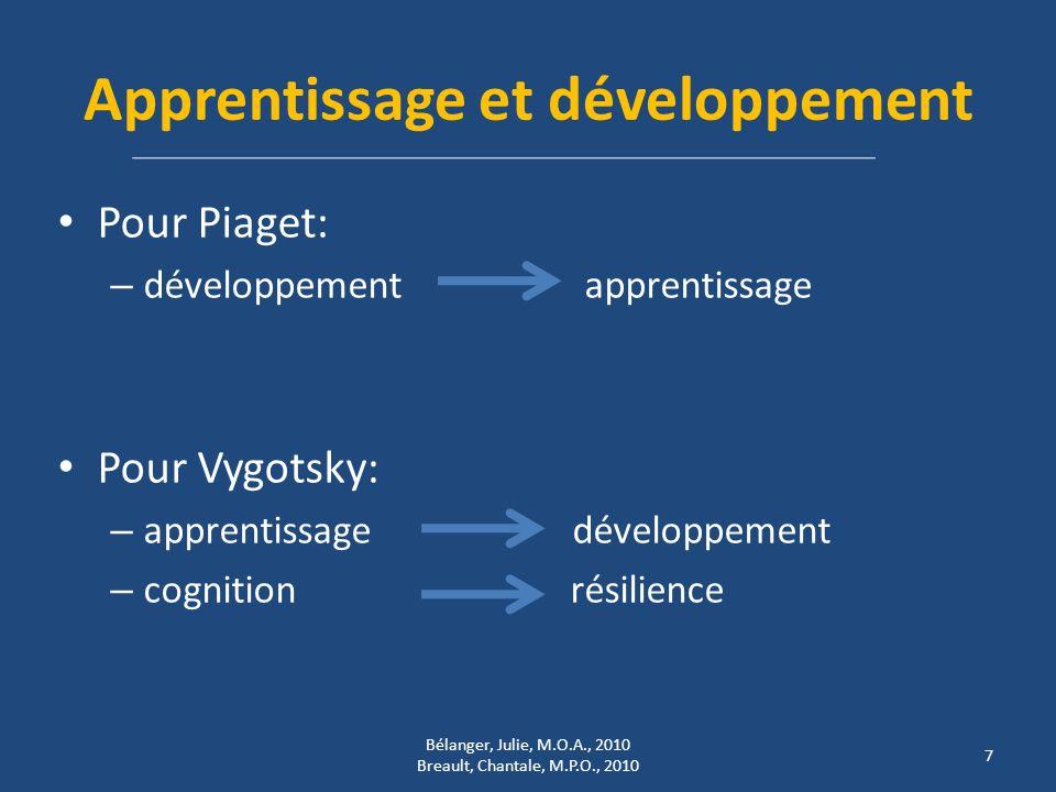 Apprentissage et développement