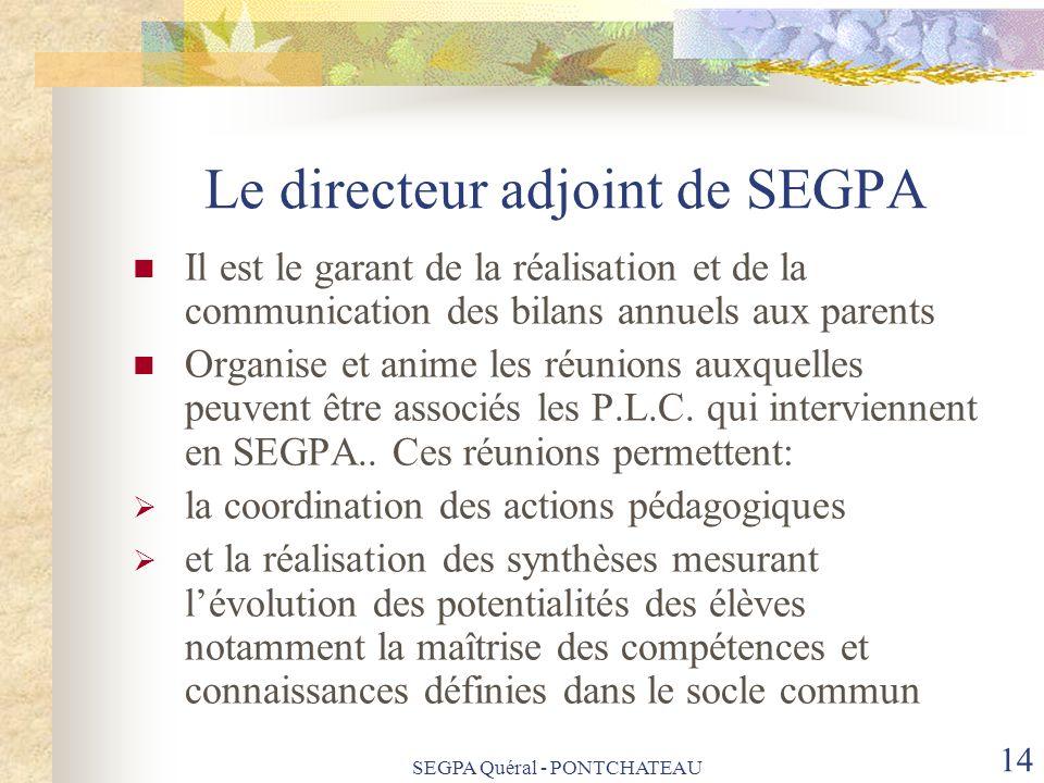 Le directeur adjoint de SEGPA