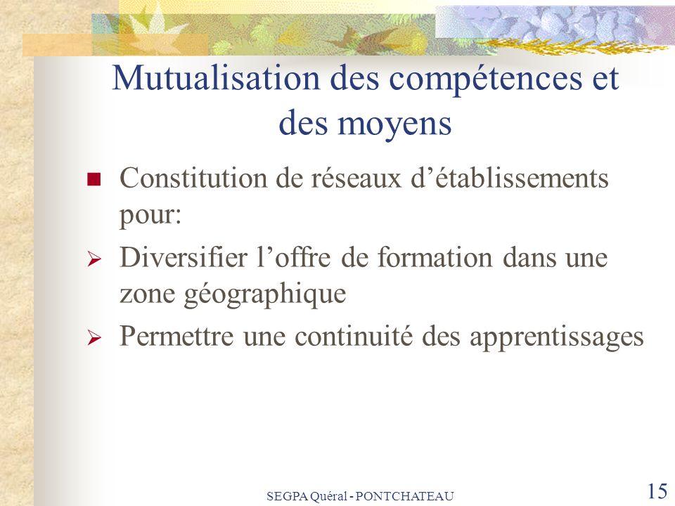 Mutualisation des compétences et des moyens