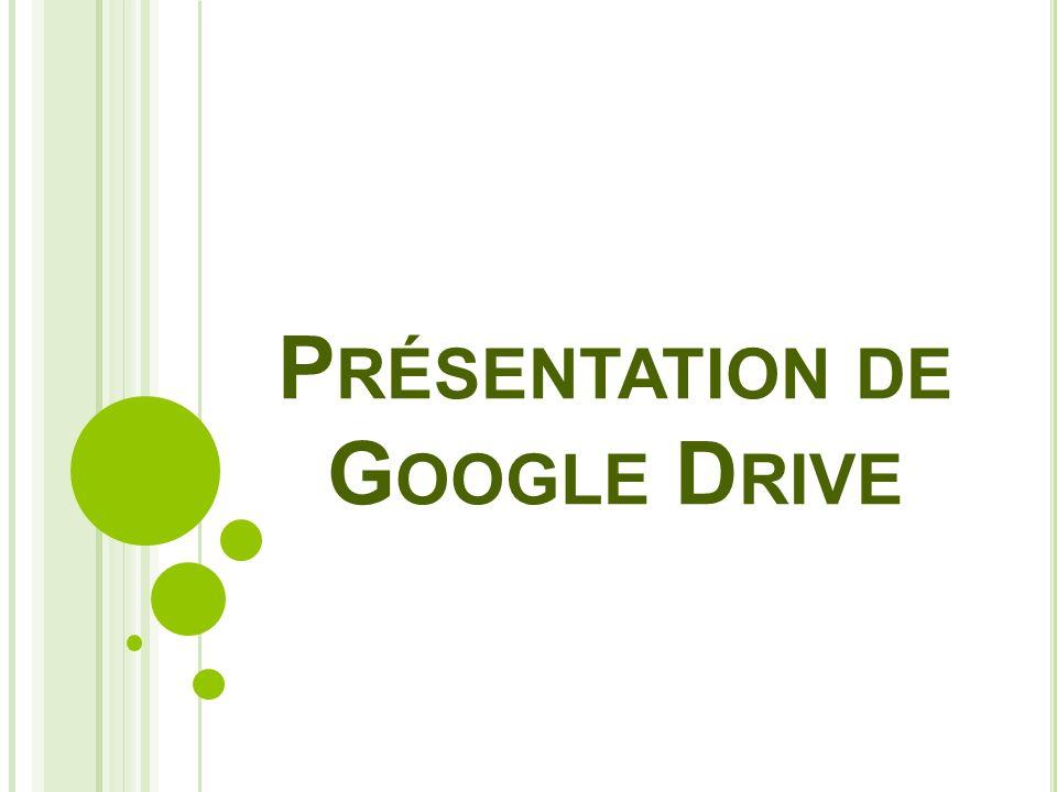 Présentation de Google Drive