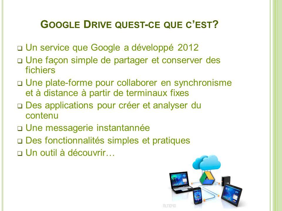 Google Drive quest-ce que c'est
