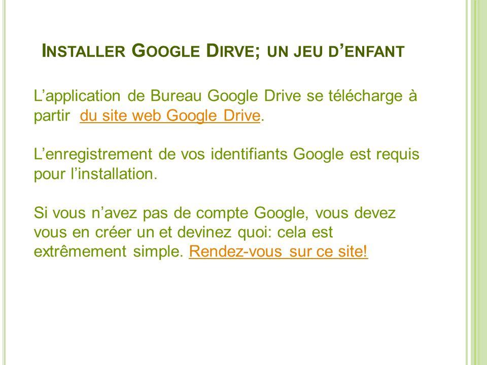 Installer Google Dirve; un jeu d'enfant