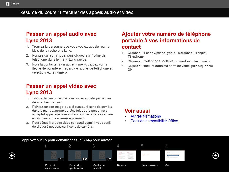 Passer un appel audio avec Lync 2013