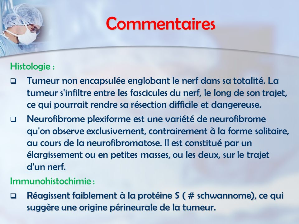 Commentaires Histologie :