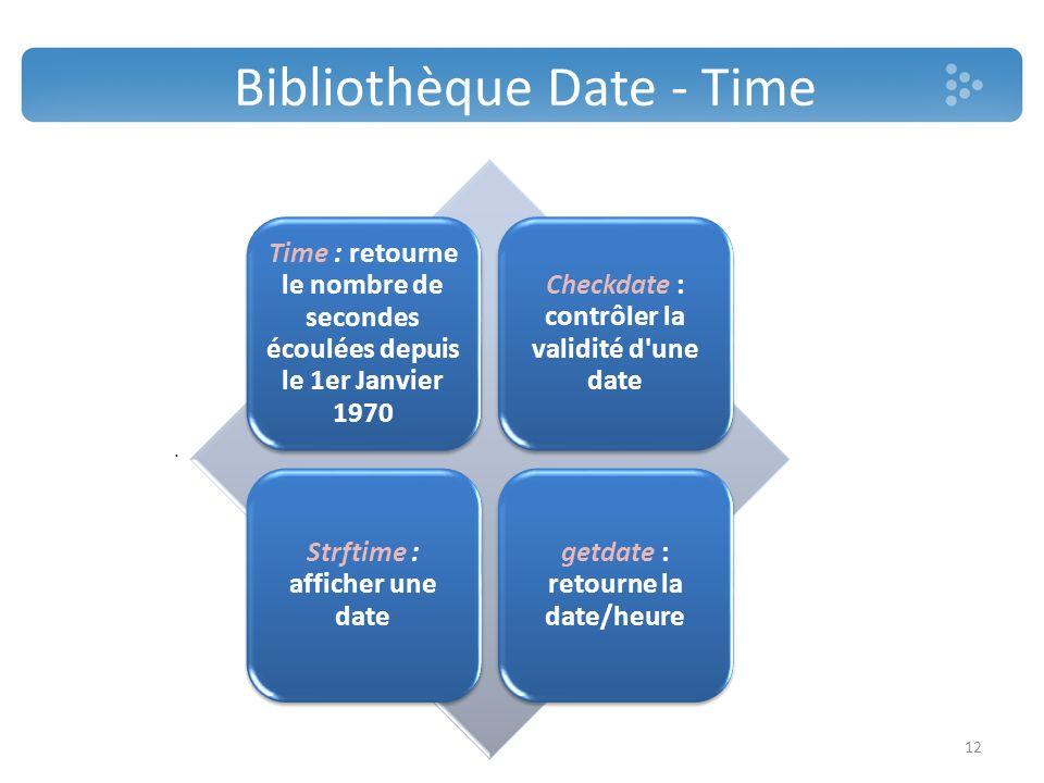 Bibliothèque Date - Time