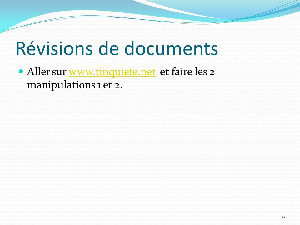 Révisions de documents